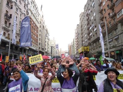 Manifestación por la despenalización del aborto en 2014